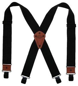 New Dickies Mens Industrial Strength Ballistic Nylon Clip End Work Suspenders BK