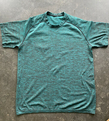 Lululemon Men's Large Green Metal Vent Tech Performance T-Shirt - EUC