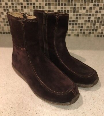 - Timberland Brown Suede Side Zip Moc Toe High Ankle Boots Size 9 M New 69365