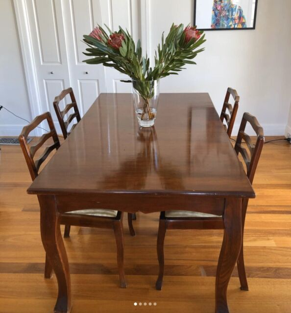 Solid Timber Dining Table And 4 Chairs