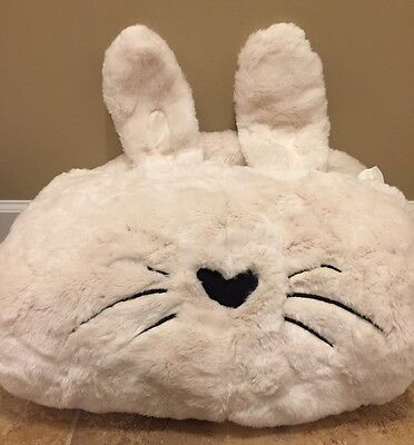 NEW Pottery Barn Teen BUNNY Critter Fur LARGE Beanbag Cover IVORY