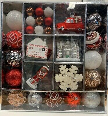 Martha Stewart 51 pc Christmas Ornaments Winter Tidings Shatter Resist New