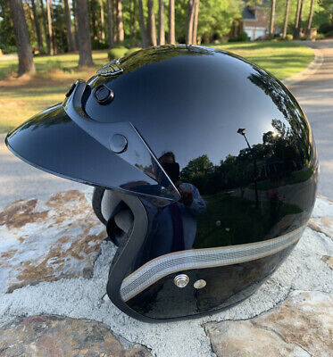 Harley Davidson 100th Anniversary 3/4 Motorcycle Helmet XL Black