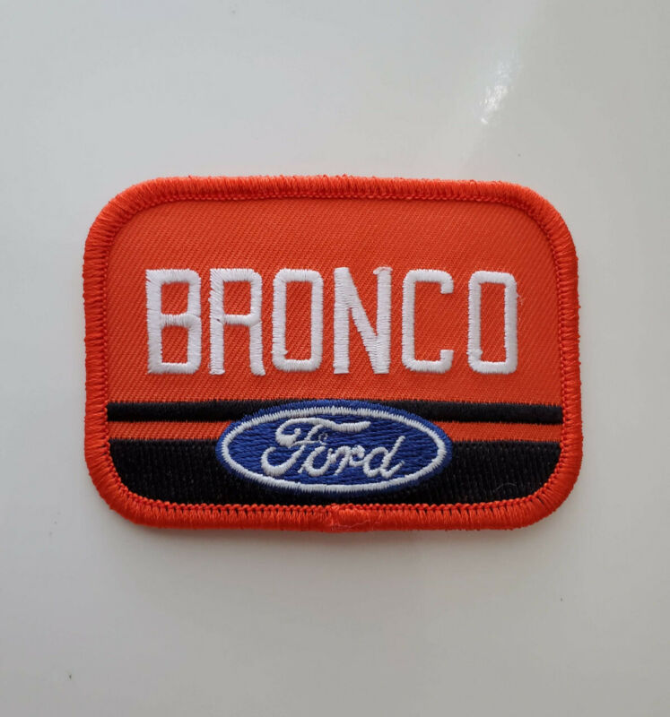 Ford Bronco Embroidered Iron-on Patch/ New Great for Hats/Jackets