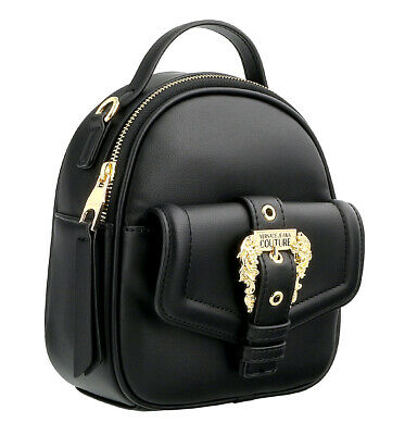 Versace Jeans Couture Black Small Baroque Fashion Backpack