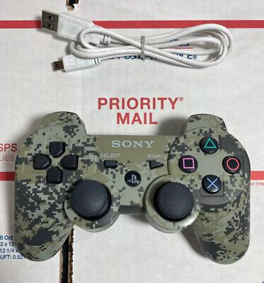 🔥MINT Genuine CAMO Sony PS3 Sixaxis DualShock 3 Wireless Controller  WARRANTY