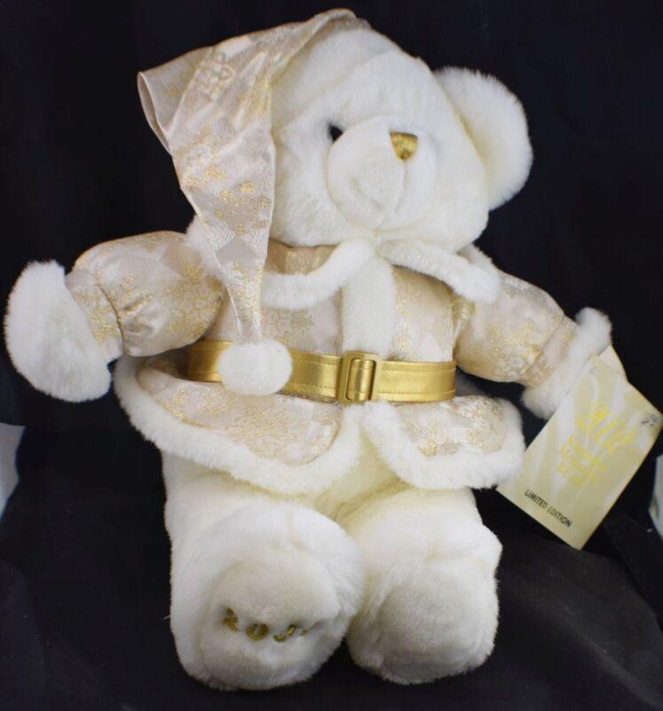 2002 Bear Dan Dee Keepsake Memories Limited Edition Gold White with COA