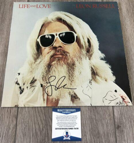 LEGEND LEON RUSSELL SIGNED LIFE AND LOVE VINYL ALBUM w/PROOF & BECKETT BAS COA