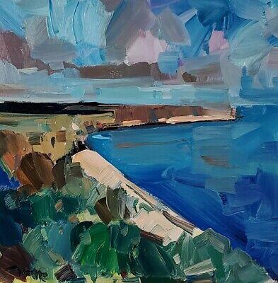 JOSE TRUJILLO Impressionism OIL PAINTING SEASCAPE SEA OCEAN MODERN FINE ART NR