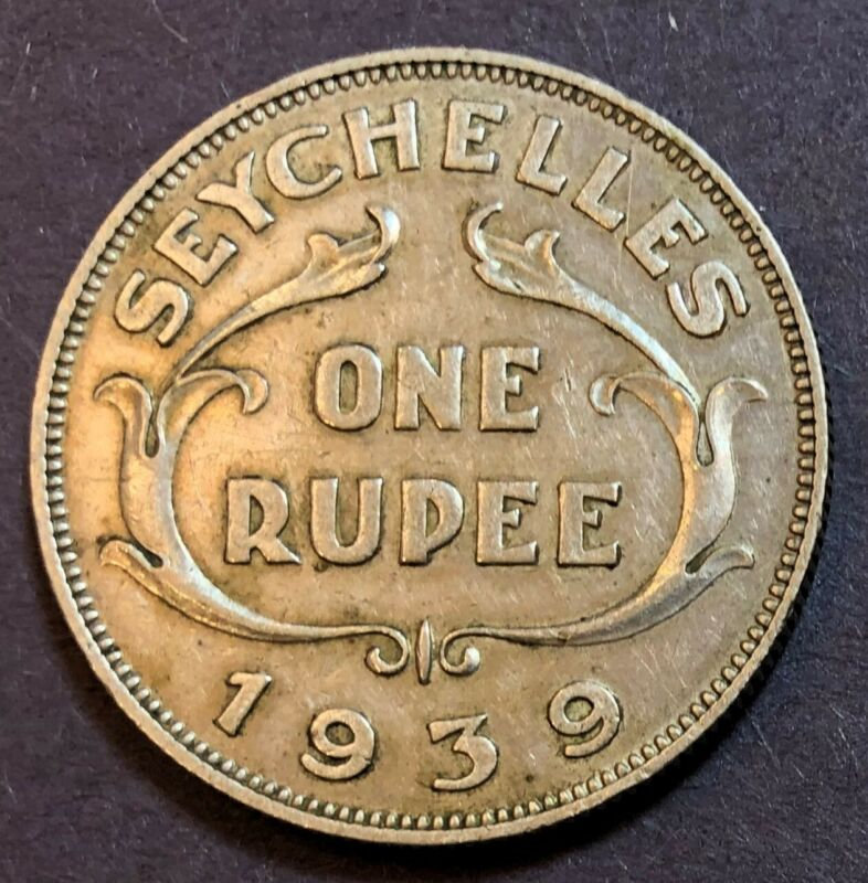 Seychelles, One Rupee KM# 4, 1939, XF, 11.60g