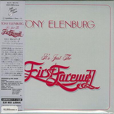 TONY ELENBURG-IT'S JUST THE FIRST FAREWELL + 2-JAPAN MINI LP CD BONUS TRACK F56