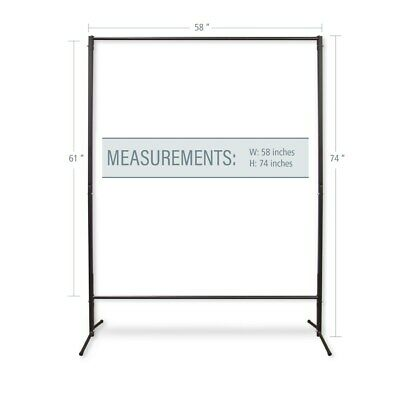 """InStyleDesign Multi-Purpose Portable Rod Stand 74"""" tall, 58"""" Black 74"""" x 58'"""