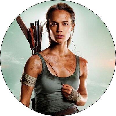 Raider Geburtstag (Tomb Raider Spiel Eßbar Tortenaufleger NEU Party Deko Tortenbild Geburtstag )