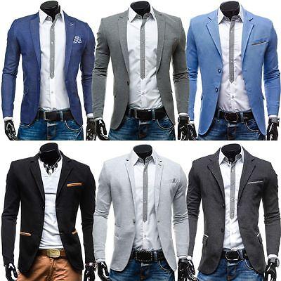 Herren Sakko Anzug Jacke Sweatjacke Slim Fit Classic Blazer Mix BOLF 4D4 Casual