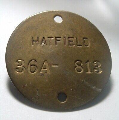 Tag Tool (Brass Tag / Tool Check ... HATFIELD 36A 813 / key Fob)