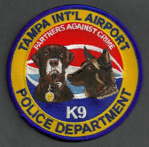 TAMPA INTERNATIONAL AIRPORT FLORIDA POLICE K-9 UNIT POLICE SHOULDER PATCH