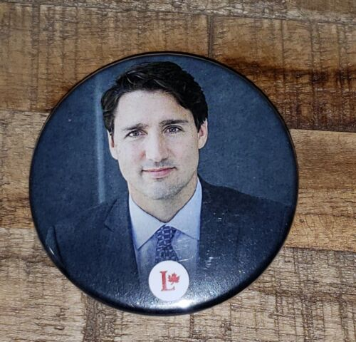 JUSTIN TRUDEAU Authentic Liberal Party of Canada Button/Pin