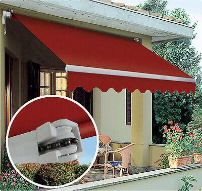 Tenda da sole a bracci c/catena da balcone in alluminio avvolgibile