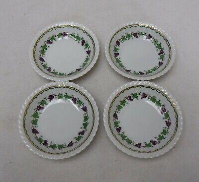 FRANCONIA Krautheim china FESTIVE AUTUMN pattern Set of 4 Fruit Bowls - 5-1/4