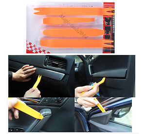 4PCS Car Radio Door Clip Panel Trim Dash Audio Removal Tools Installer Pry Kits