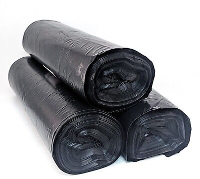 55 Gallon Thick Black Drum Liner Trash Garbage Bags 36 Ct LDPE - FREE - Ldpe Drum
