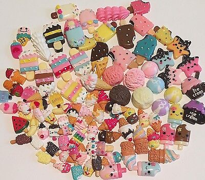 New: Kawaii Ice Cream Cabochons Resin Flat Backs Embellishments Decoden