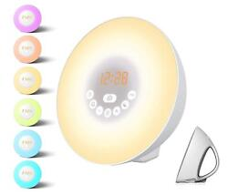 Sunrise Alarm Clock - Wake Up Light,with 7 Colors, Nature Sounds,