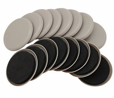 "3-1/2"" Round Carpet Furniture Sliders 16-Pack in Resealable Bag by Smart Surface"