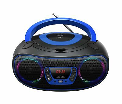 Boombox mit CD-Player Radio USB Bluetooth MP3 AUX Denver TCL-212BT Pink
