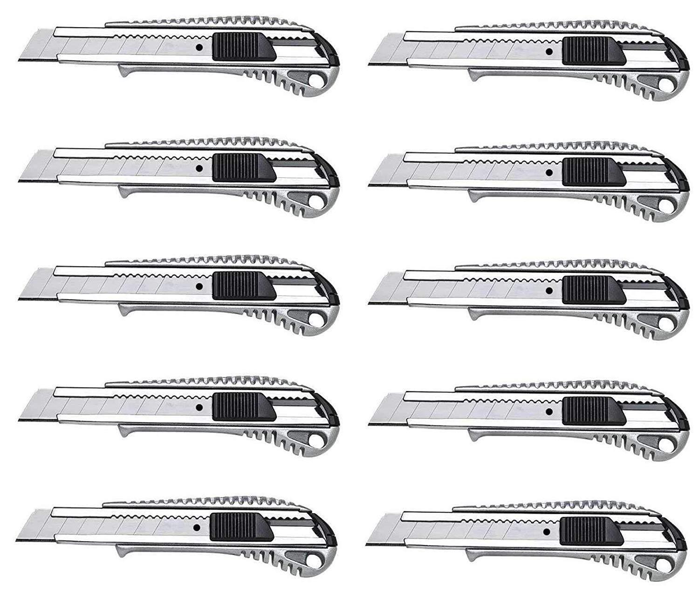 Alu Cuttermesser 1-50 Stück 18 mm Teppichmesser Paketmesser Cutter Universal