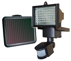 NEW! Security Light with Motion Detector Sensor Solar Power 60 LED Flood Lights