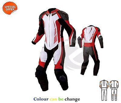 Motogear Rennanzug Motogp Rennen Leder Anzug in Rot und Weiß Alle Größen