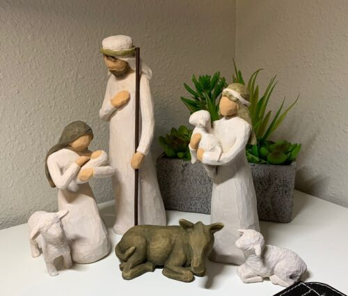 Willow Tree_#26005 Nativity_sculpted hand-painted nativity figures, 6-piece set