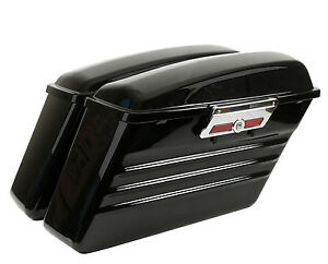 NEW HARLEY HARD SADDLEBAGS FOR ROAD KING ELECTRA STREET ULTRA GLIDE W/ HARDWARE