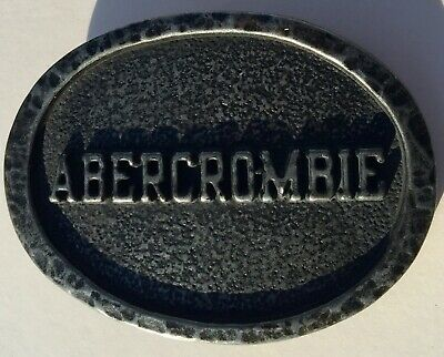 Black Oval Abercrombie & Fitch Metal BELT BUCKLE