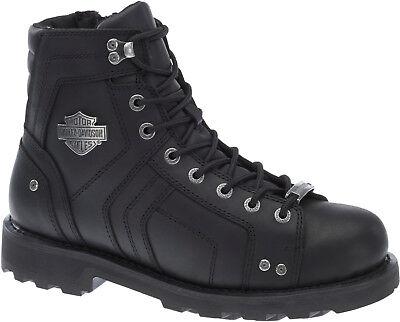 Harley-Davidson® Mens Mandrake Performance Black Leather Motorcycle Boots D96111 ()