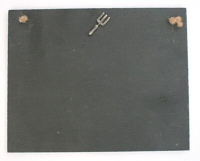 Garden Fork Slate Chalk Board Messages Lists Gardeners Gift