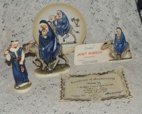 Vintage Goebel Robson Flight Into Egypt Jesus, Mary And Joseph #405A & 405B