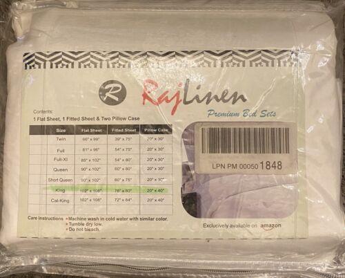 4 PC Rajlinen 600 Thread Ct. 100% Egyptian Cotton Sheet Set,
