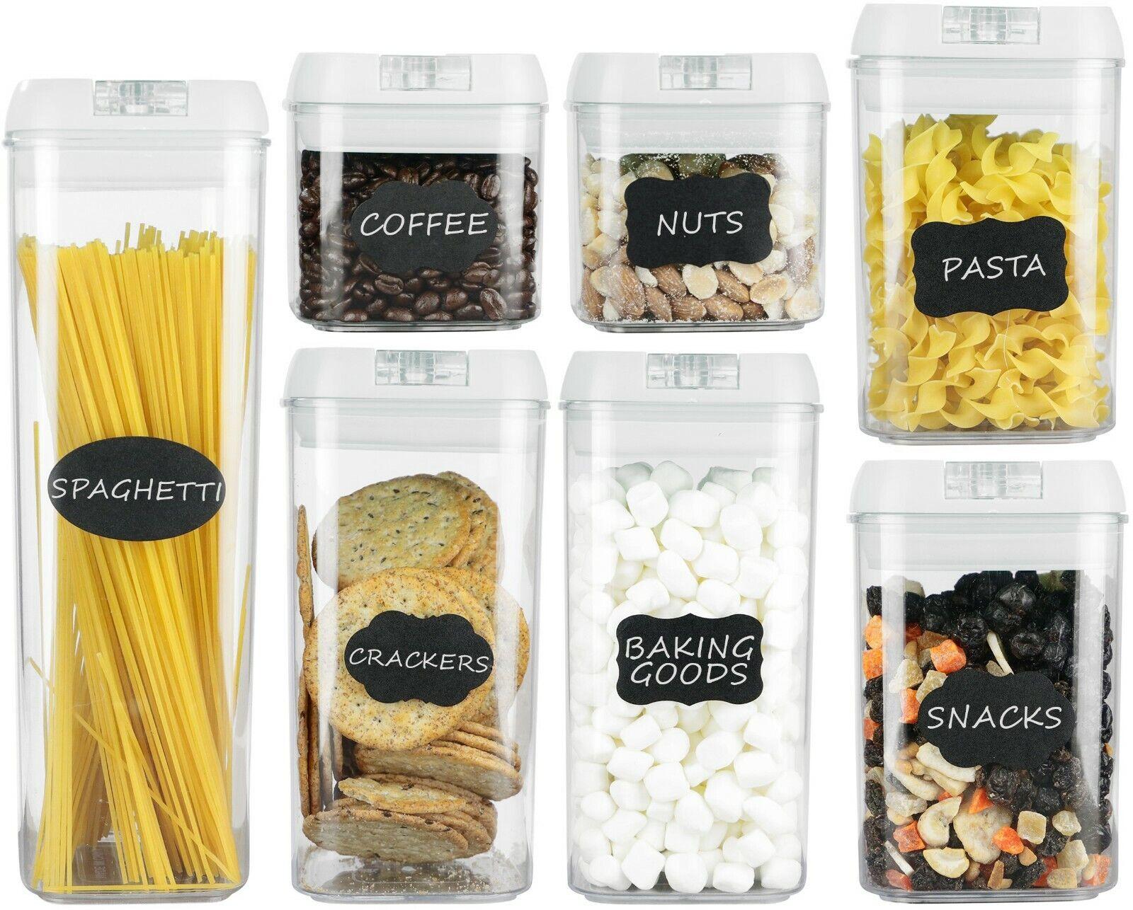 Airtight Food Storage Containers–7 pc Set - BPA Free Plast