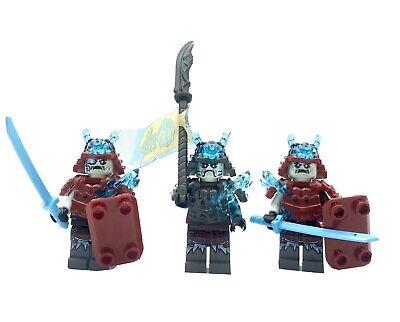 LEGO NINJAGO General Vex & 2 Blizzard Warrior Samurai Mini figures 70673 70677