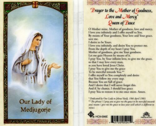 Prayer to the Mother of Goodness Queen of Peace Love Our Lady of Medjugorje