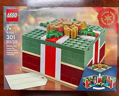 Lego Exclusive Retired Limited Edition 40292 Christmas Gift Box 2 Unique Minifig
