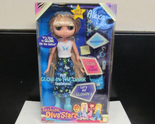2002  Mattel Diva Starz Alexa Talking Glow in The Dark Fashions Doll Figure