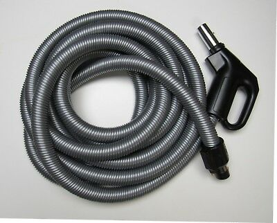 30' Dual Voltage Electric Hose Silver/Black M&S V610PS Central - 30 Electric Hose