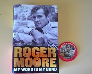 roger moore signed autobiography book  007 Embleton Bayswater Area Preview