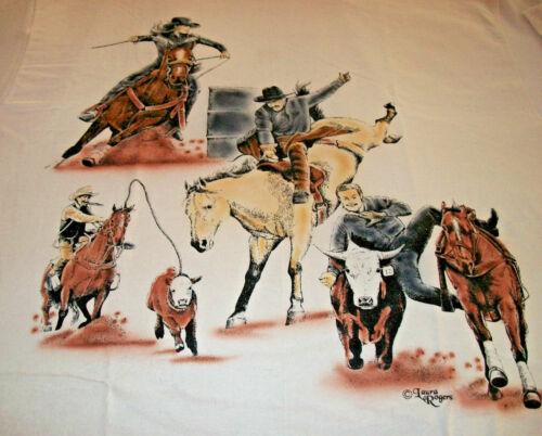 "American Sport Horse T-shirt  "" White "" SM ( 34 - 36 )"