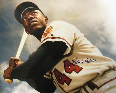 Signed 16x20 Hall Of Fame - Milw Braves HANK AARON Signed 16x20 Photo #4 AUTO - Hall of Fame - JSA!