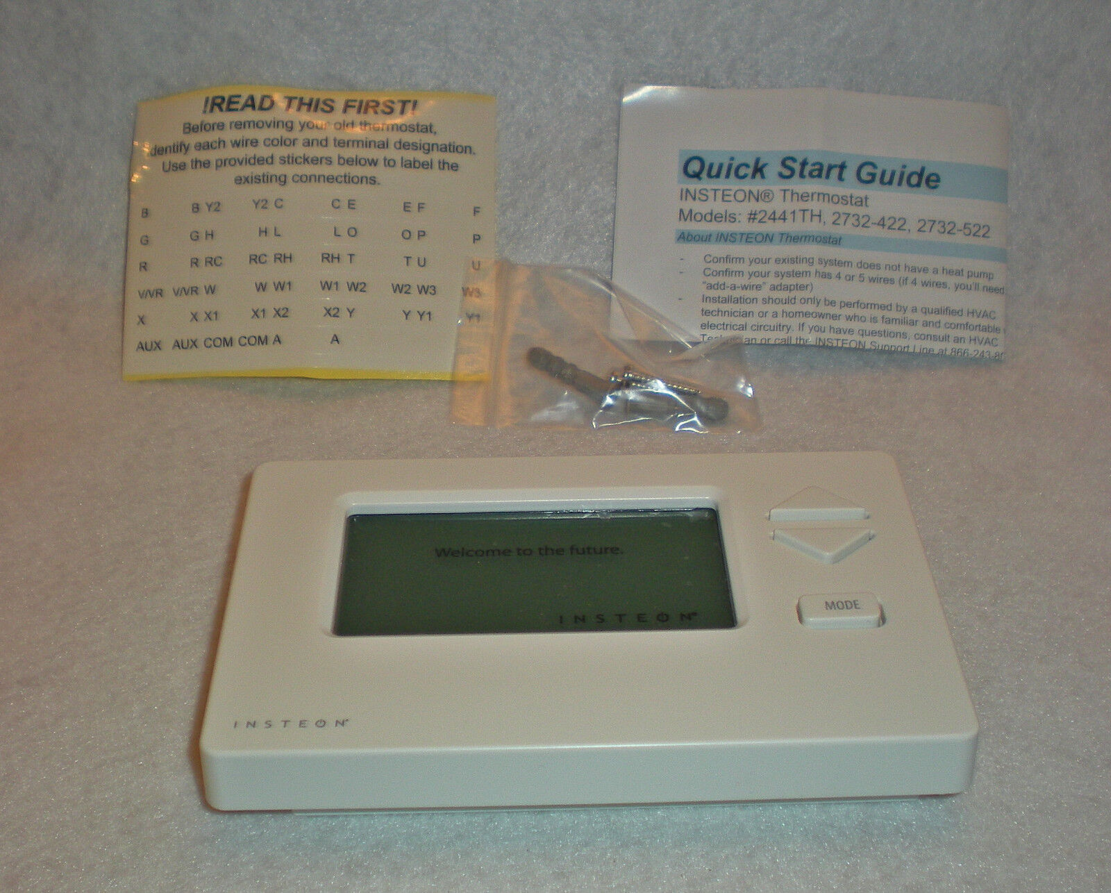 Tech Wiring Insteon Thermostat Guide And Troubleshooting Of With Humidity Sensor 2441th Ebay Rh Com 2732 Venstar