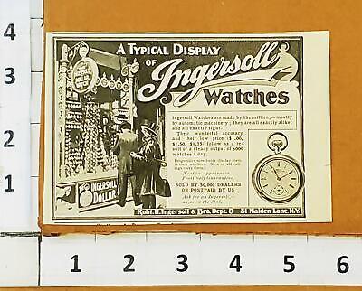 Ingersoll Dollar Watch 1903 PRINT AD Store Display Pocket Watch Antique B5